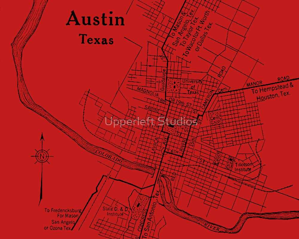 Vintage Austin Red by Upperleft Studios
