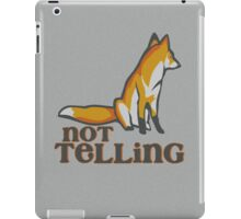 What Does the Fox Say - Ylvis Parody - Fox Say Meme - What the Fox Say - Fox Say - Not Telling iPad Case/Skin