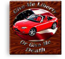 Mazda MX-5 Miata Give Me Liberty Canvas Print
