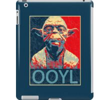Star Wars Inspired - YODA - Only Once You Live - YOLO - Pop Art Yoda - Sheppard Fairey-Style iPad Case/Skin