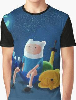 Night Time on Ooo Graphic T-Shirt