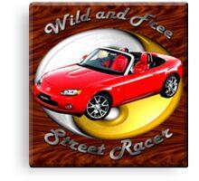 Mazda MX-5 Miata Wild and Free Canvas Print