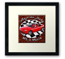 Mazda MX-5 Miata Anytime Baby Framed Print