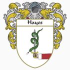Hayes Coat of Arms/Family Crest by William Martin
