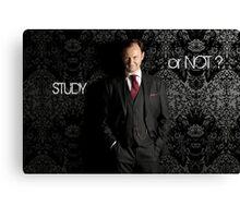 Go Study—Mycroft Holmes Canvas Print