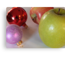 Like Comparing Apple to Ornaments Canvas Print