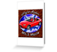 Mazda MX-5 Miata Night Rider Greeting Card