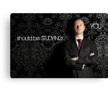 Go Study-Mycroft Holmes v2 Canvas Print