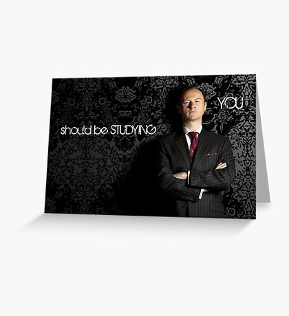 Go Study-Mycroft Holmes v2 Greeting Card