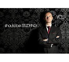Go Study-Mycroft Holmes v2 Photographic Print