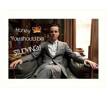 Go Study—James Moriarty Art Print