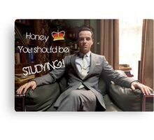 Go Study—James Moriarty Metal Print