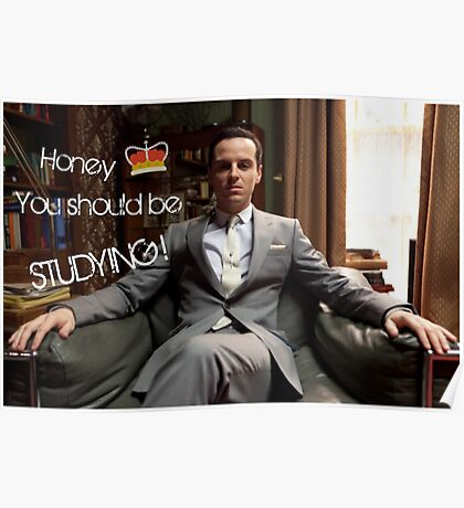 Go Study—James Moriarty Poster