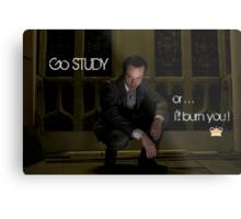 Go Study—James Moriarty v2 Metal Print