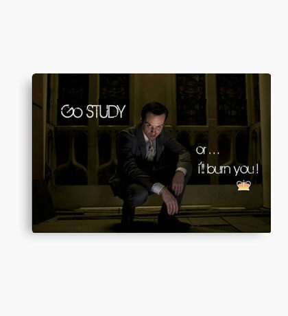 Go Study—James Moriarty v2 Canvas Print