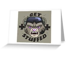GET STUFFED (Tan) Greeting Card