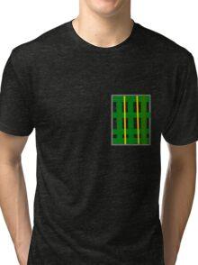 Plaid Patch 4 Dad Tri-blend T-Shirt