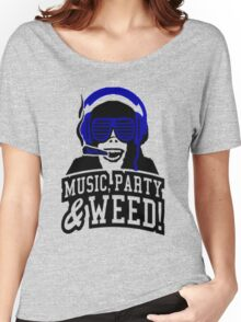 Music Party Weed Women's Relaxed Fit T-Shirt