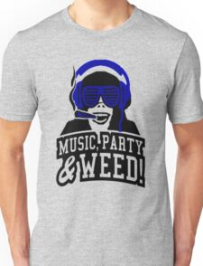 Music Party Weed Unisex T-Shirt