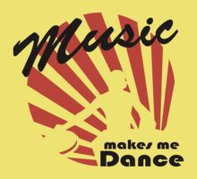 Dj at work - music makes me dance Kids Tee