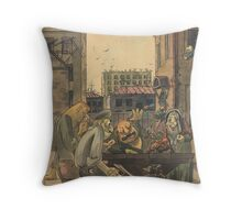 In the yard Throw Pillow