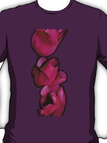 Three Tulips of Fuchsia-Red T-Shirt