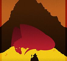 The Hobbit: Minimalist/Art Deco Poster by benjamagnus