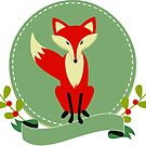 Cute Red Fox Illustration by artonwear