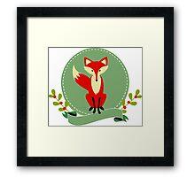 Cute Red Fox Illustration Framed Print