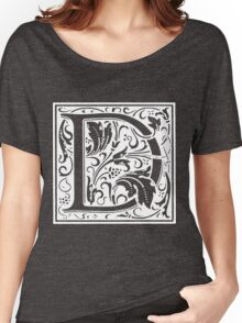 William Morris Renaissance Style Cloister Alphabet Letter D Women's Relaxed Fit T-Shirt