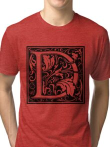 William Morris Renaissance Style Cloister Alphabet Letter D Tri-blend T-Shirt