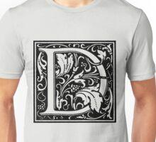 William Morris Renaissance Style Cloister Alphabet Letter D Unisex T-Shirt