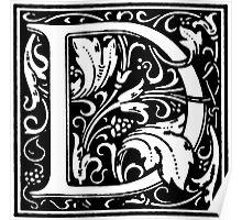 William Morris Renaissance Style Cloister Alphabet Letter D Poster