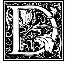 William Morris Renaissance Style Cloister Alphabet Letter D Photographic Print