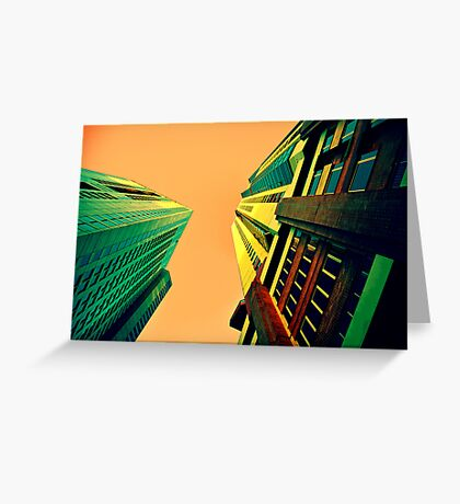 Urban sky Greeting Card
