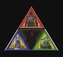 Triforce - Wisdom, Courage, Power Kids Tee