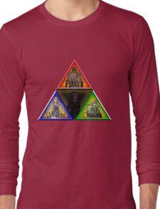 Triforce - Wisdom, Courage, Power Long Sleeve T-Shirt