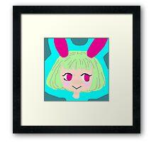 Bunny anime girl Framed Print