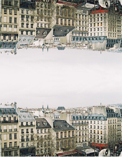 upside down parisian rooftops by Tess Smith-Roberts