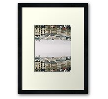 upside down parisian rooftops Framed Print