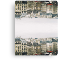 upside down parisian rooftops Canvas Print