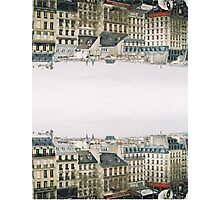 upside down parisian rooftops Photographic Print
