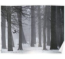 Snowy day in New York City  Poster