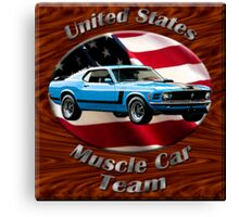Ford Mustang Boss 302 Muscle Car Team Canvas Print