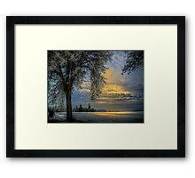 The Blue Hour ~ Snow ~ Framed Print