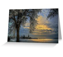 The Blue Hour ~ Snow ~ Greeting Card