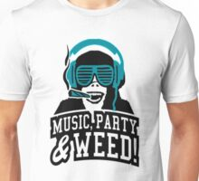 Music Party Weed 2 Unisex T-Shirt