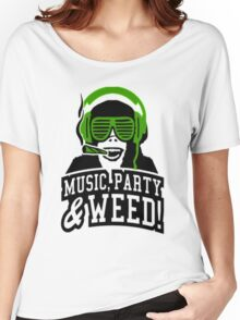 Music Party Weed 3 Women's Relaxed Fit T-Shirt