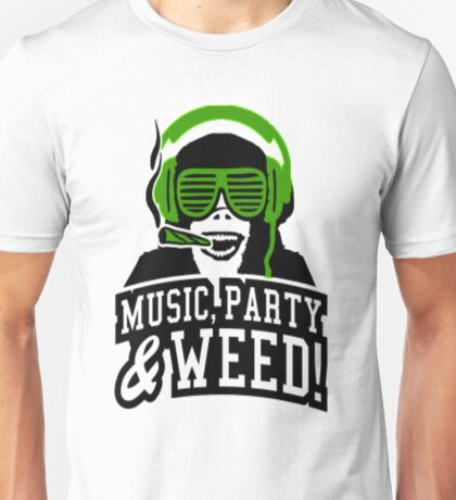 Music Party Weed 3 Unisex T-Shirt
