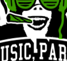 Music Party Weed 3 Sticker